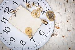 klockan gears mekaniskt royaltyfri bild