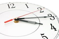 klockan isolerade visande white för tid nio Royaltyfri Bild
