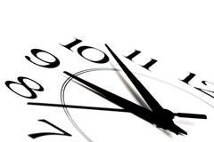 klockan isolerade visande white för tid nio Arkivfoto