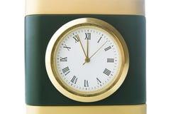 Klockan visar fem minuter till tolv Royaltyfri Fotografi