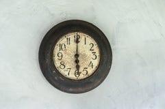 Klockan visar sex klockan Arkivfoton