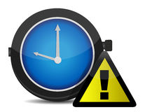 Klockapåminnelsesymbol Arkivbild