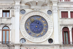Klockapiazza San Marco Venice Royaltyfria Foton