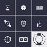 Klockasymboler stock illustrationer