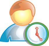 klockasymbolsperson vektor illustrationer