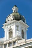 Klockatorn för ståndsmässig domstolsbyggnad i Missoula, Montana Royaltyfri Foto