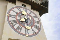 Klockatorn Graz Österrike Fotografering för Bildbyråer