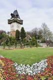 Klockatorn Graz Österrike Arkivfoto