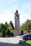 Klockatorn i Bansko Arkivbilder