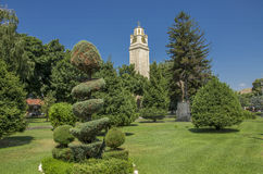 Klockatorn i Bitola, Makedonien Royaltyfria Bilder