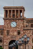 Klockatorn i mitten av Yerevan arkivbild