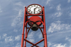 Klockatorn i Petoskey Michigan Royaltyfri Bild