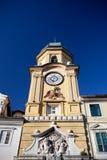 Klockatorn i Rijeka, Kroatien Royaltyfria Bilder