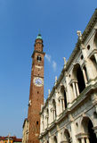 Klockatorn i Vicenza Royaltyfria Foton