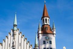Klockatorn Munich royaltyfri bild