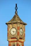 Klockatorn, promenad, Morecambe, Lancashire Royaltyfria Foton
