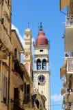 Klockatornet av den helgonSpyridon kyrkan Royaltyfri Bild