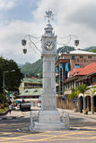 Klockatornet av Victoria, Seychellerna Arkivfoto