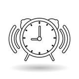 Klockavektorillustration, vektorsymbol Royaltyfri Fotografi