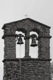 Klockor av Chiesa di San Cristoforo i Cortona, Italien Arkivbilder