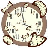 Klockor av olika former Arkivbild