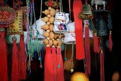 Klockor för souvenir för Kina beijing lamatempel, vit Royaltyfria Bilder