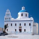 klockor kyrktar den traditionella greken Royaltyfri Bild