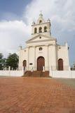 klockor kyrktar staden clara santa tre v Fotografering för Bildbyråer