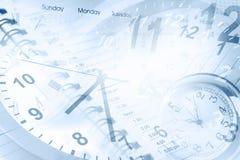 Klockor och kalendrar Arkivfoton