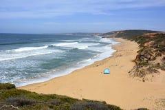 Klockor strand i Victoria, Australien Fotografering för Bildbyråer