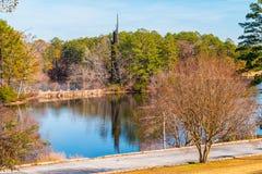 Klockspel- och stenberg sjö, Georgia, USA Royaltyfria Bilder