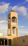 Klockstapel av den Panayia kyrkan i Agia Napa, Cypern Arkivfoto