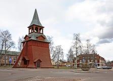 Klockstapel av kyrkan av ärkeängeln Michael i Mora sweden Royaltyfri Fotografi