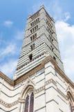 Klockstapel av Siena Cathedral Duomo di Siena Arkivfoto