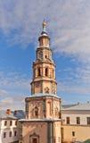 Klockstapel av St Peter och Paul Cathedral (1726) i Kazan, Ryssland Royaltyfri Fotografi