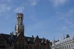 klockstapel Belgien bruges Arkivfoto