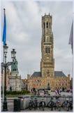 Klockstapel i Brudges, Belgien royaltyfria foton