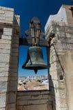 Klockstapel i domkyrka i Faro, Portugal Arkivbilder
