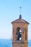 Klockstapel i San Marino Arkivfoto