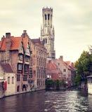 klockstapel medeltida bruges fotografering för bildbyråer