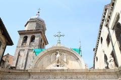 Klockstapel på Scuola som är stor av San Giovanni Evangelista Fotografering för Bildbyråer