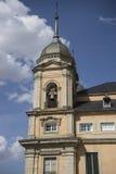 Klockstapel Palacio de la Granja de San Ildefonso i Madrid, Spanien Royaltyfri Foto