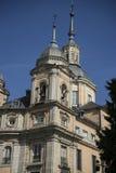 Klockstapel Palacio de la Granja de San Ildefonso i Madrid, Spanien Arkivfoto