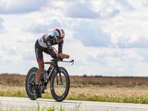 骑自行车者安德烈亚斯Kloden 免版税库存图片