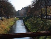 Klodnitz в городе Гливице, Польше Стоковая Фотография