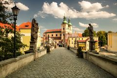 Klodzko i Polen Royaltyfri Fotografi