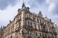 Klodzko in Poland. Facade of Town Hall building in Klodzko city, Poland Stock Images
