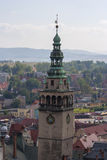 Klodzko Town. View of the city Klodzko Downtown stock photography