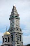 Klok 3 van het Huis van de Douane van Boston stock foto