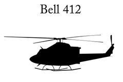 Klok 412 helikopter stock illustratie